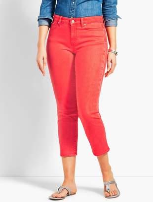 Talbots Garment-Dyed Colored Denim Straight Leg Crop - Curvy Fit