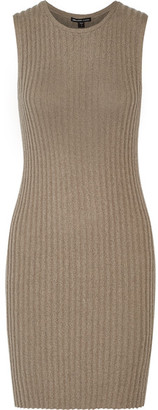James Perse - Ribbed Cotton-blend Mini Dress - Mushroom $325 thestylecure.com