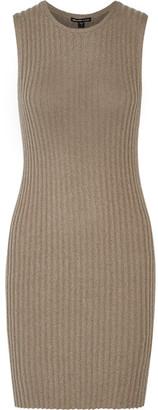 James Perse - Ribbed Cotton-blend Mini Dress - Mushroom $325 thestylecure.com