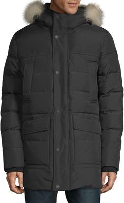 Pajar Canada Men's Quilted Fox Fur-Trimmed Coat