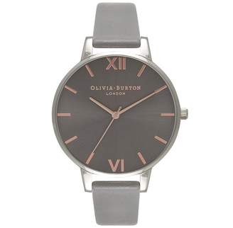 Olivia Burton Big Dial Watch - Dark Grey & Silver