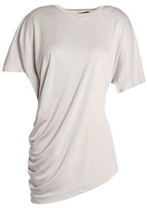 Joseph Asymmetric Ruched Silk T-Shirt