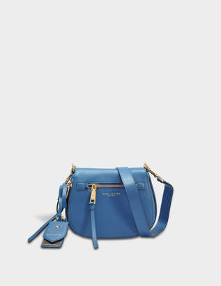 Marc Jacobs Recruit Small Nomad Crossbody Bag in Vintage Blue Cow Leather