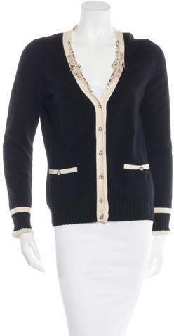 Blumarine Cashmere Embellished Cardigan