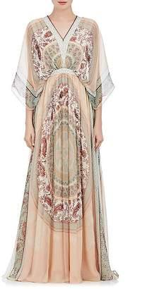 Chloé Women's Mosaic-Print Silk Chiffon Gown