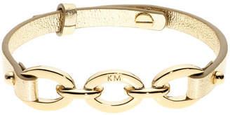 Karen Millen Chain Link Leather Bracelet