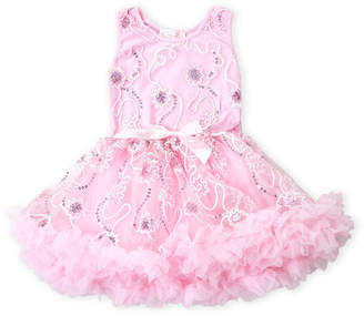 Popatu (Toddler Girls) Floral Sequin Tank Tutu Dress
