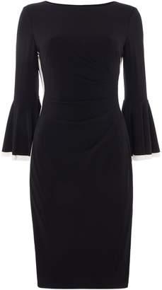 Lauren Ralph Lauren Two tone frill sleeve side stripe dress