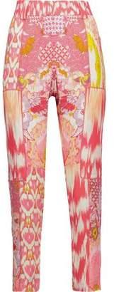 Roberto Cavalli Printed Silk-Voile Tapered Pants