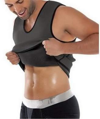 Acme Mens Slimming Tummy Shaper Vest Sweat Shirt Weight Loss Top Shapewear