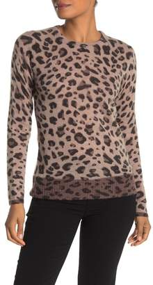 Magaschoni M BY Leopard Print Cashmere Sweater