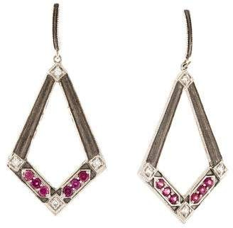 Jude Frances Rhodolite & Topaz Drop Earrings