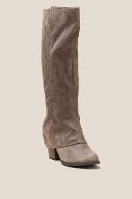 Fergalicious Lessa Woven Back Hi Shaft Boot - Taupe
