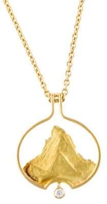 18K Diamond Mountain Pendant Necklace