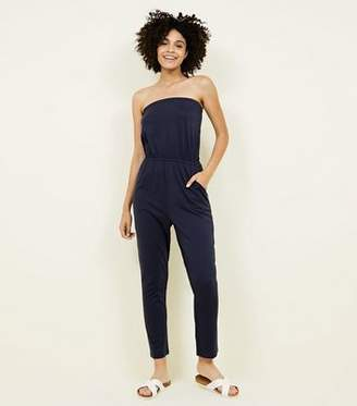New Look Navy Jersey Bandeau Jumpsuit