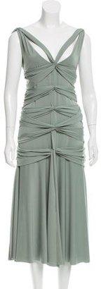 Vera Wang Draped Midi Dress $180 thestylecure.com