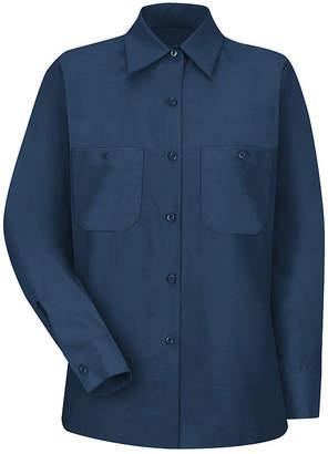 Red Kap Womens Industrial Long-Sleeve Work Shirt - Plus