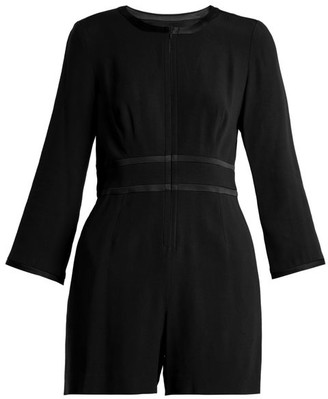 Goat Fillie Long Sleeved Crepe Cady Playsuit - Womens - Black