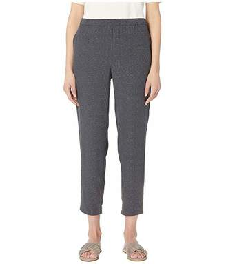 Eileen Fisher Morse Code Tencel Viscose Slouchy Ankle Pants