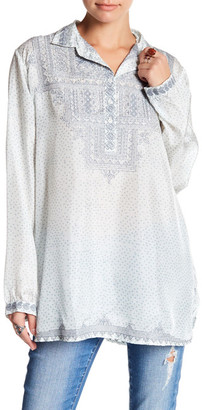Johnny Was Embroidered Silk Tunic $298 thestylecure.com