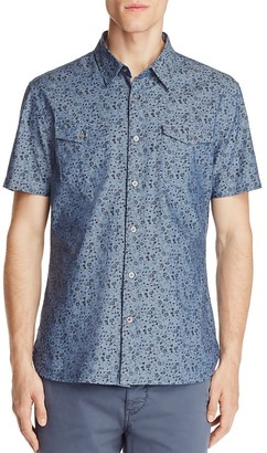 John Varvatos Star USA Floral Print Slim Fit Button-Down Shirt - 100% Exclusive $128 thestylecure.com