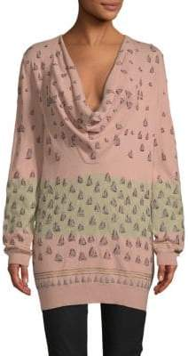 Valentino Embroidered Wool-Blend Sweater