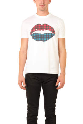 Markus Lupfer Markus Lufer Tartan Lip Smacker T-Shirt