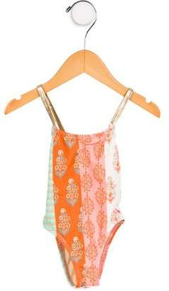 Pink Chicken Girls' Printed One-Piece Swimsuit w/ Tags