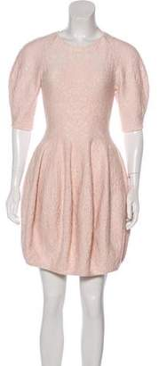 Alexander McQueen Wool Mini Dress