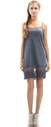 Acting Pro Women's Chiffon Lace Full Length Camisole Slip Dress Extender (XL, )