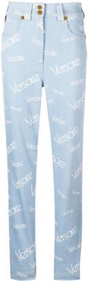 Versace vintage logo print jeans