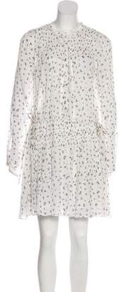Band Of Outsiders Printed Knee-Length Dress w/ Tags