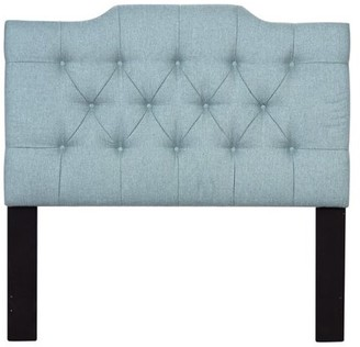 Accentrics Home Saddle Back Button Tufted Full / Queen Upholstered Headboard Lunar ChambrayModified Cml Bck Dmnd Tftd Qn HB-Chmbry