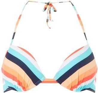 Dorothy Perkins Womens *Dp Beach Coral Multi Striped Bikini Top