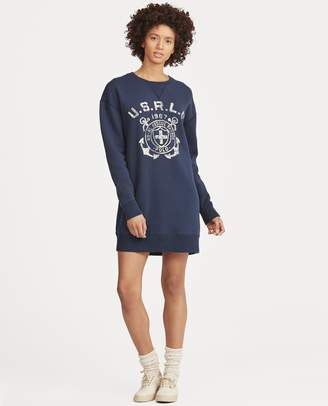 Ralph Lauren Print Fleece Sweater Dress