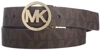 MICHAEL Michael Kors Reversible Belt with MK Logo Plaque