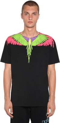 Marcelo Burlon County of Milan Fluo Wings Printed Cotton Jersey T-Shirt