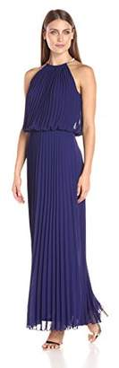 MSK Women's Halter Neck Pleated Maxi $34.38 thestylecure.com