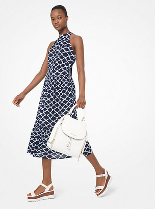 Michael Kors Ikat-Print Georgette Halter Dress
