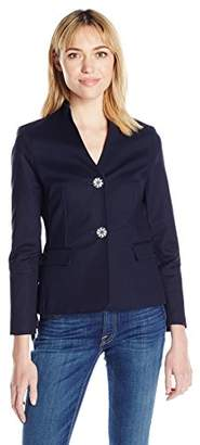Nanette Lepore Nanette Women's Long Sleeve Jacket with Side Lace up