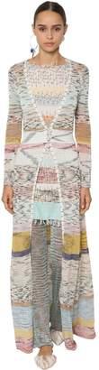Missoni Long Viscose & Linen Knit Cardigan