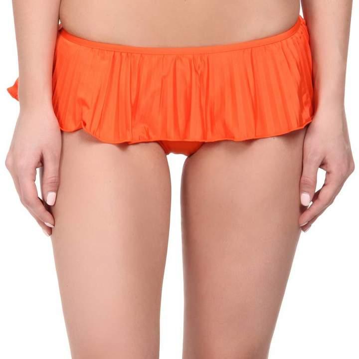 Orange Skirted Hipster Bikini Briefs