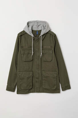 H&M Short Parka with Hood - Green