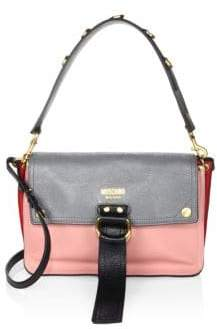 Moschino Colorblock Faux Leather Shoulder Bag