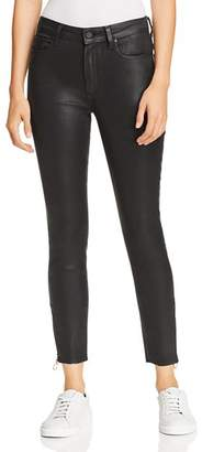 Paige Hoxton Ankle Peg Skinny Jeans in Black Fog Luxe Coating