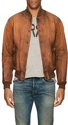 Rrl Men's Reversible Leather Bomber Jacket
