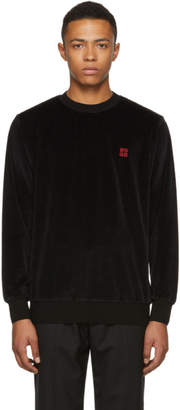 Givenchy Black Velvet 4G Slim Fit Sweatshirt