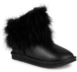 Australia Luxe Collective Mongol Feather & Shearling Short Leather Boots