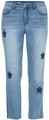 Tribal Star and trim detail jeans