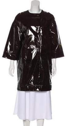 Miu Miu Patent Leather Knee-Length Coat